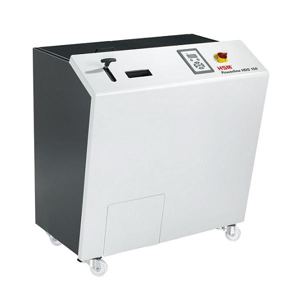 AC100Vで稼働可能な3.5インチHDD、磁気テープ破砕用可動式シュレッダー HSM Powerline HDS150 新発売